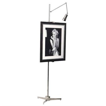 Easel Warhol with light